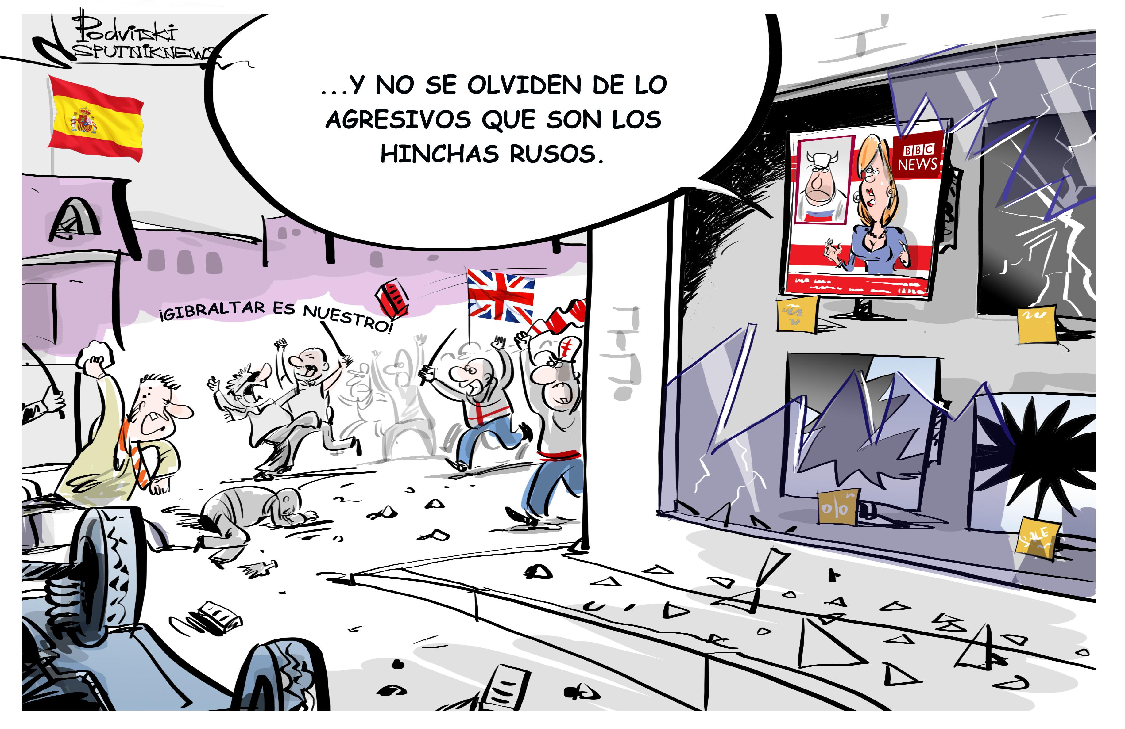 Gibraltar es nuestro: violentos hinchas… ¿británicos?