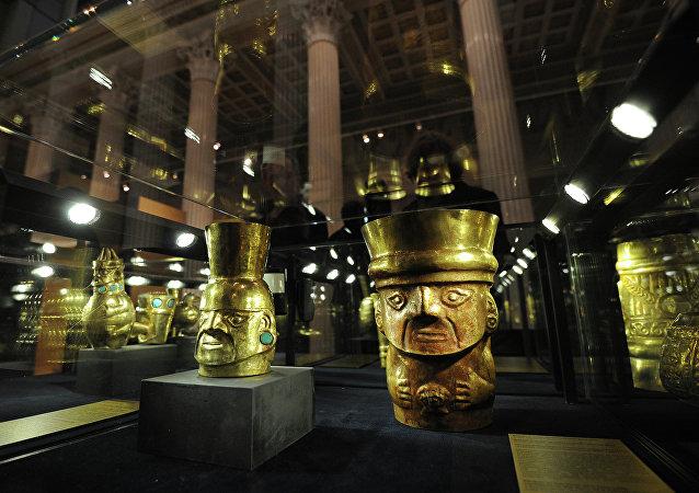 Objetos arqueológicos de la cultura Inca (Archivo)