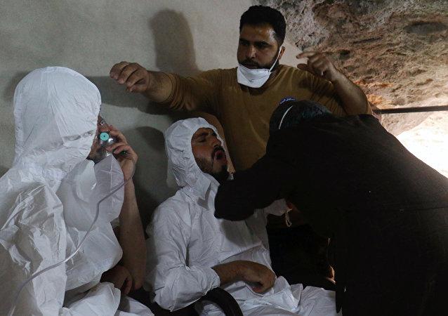Un ataque químico en Siria (imagen referencial)