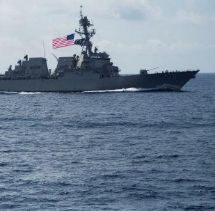 El buque estadounidense USS Wayne E. Meyer (archivo)