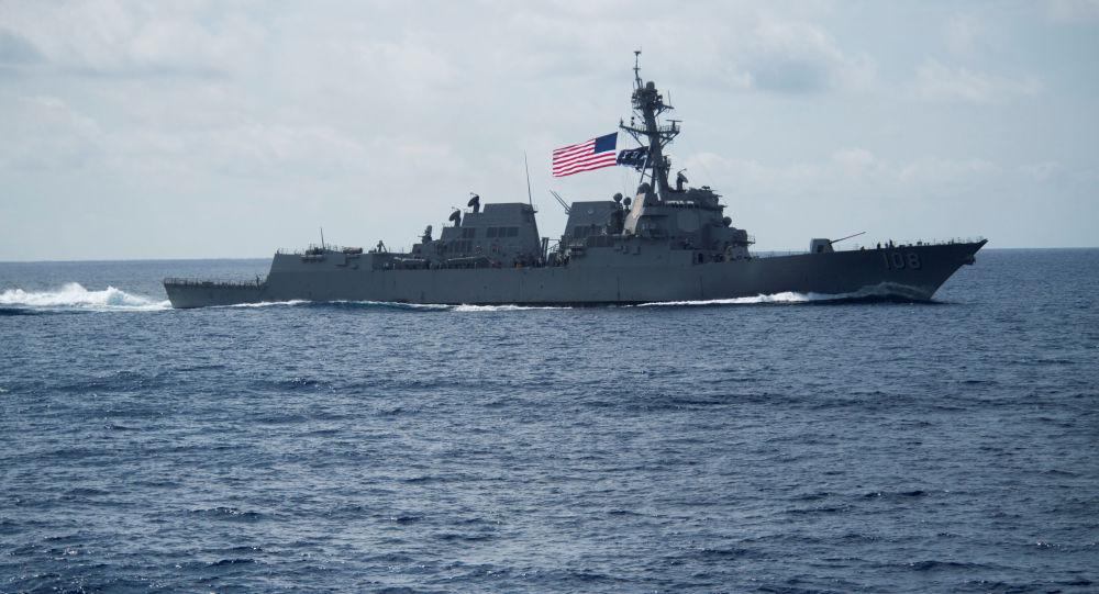 El destructor estadounidense USS Wayne E. Meyer
