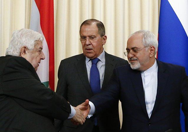 Cancilleres de Rusia, Siria e Irán