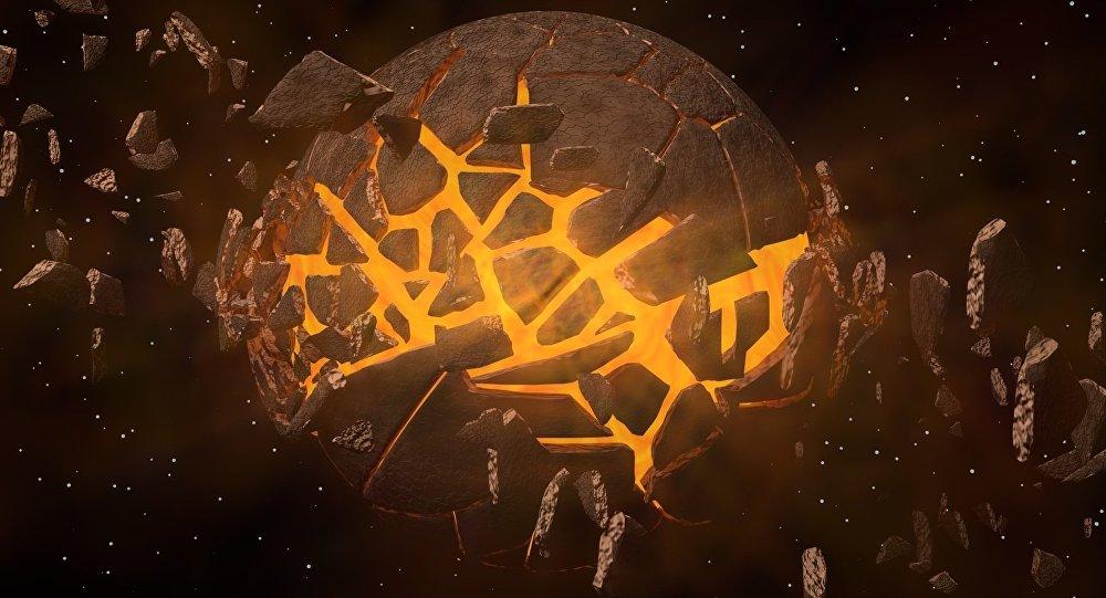 Material extraterrestre (ilustración)