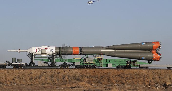 La nave espacial rusa Soyuz MS-04