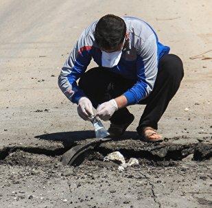 Lugar del ataque químico en Jan Sheijun, Idlib (Archivo)