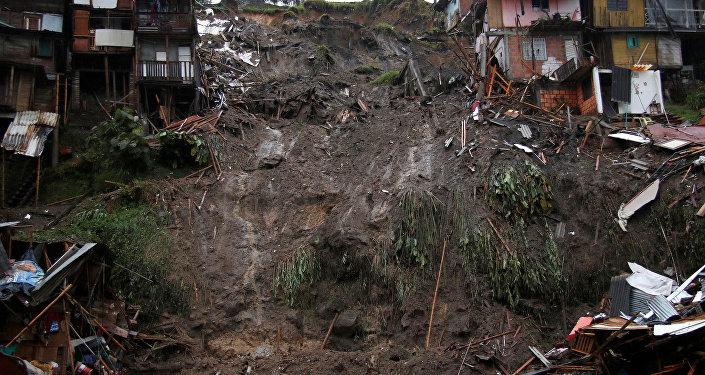 Derrumbe en Manizales, Colombia