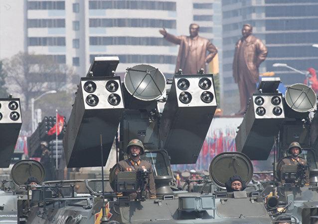 Desfile en Pyongyang, Corea del Sur (archivo)