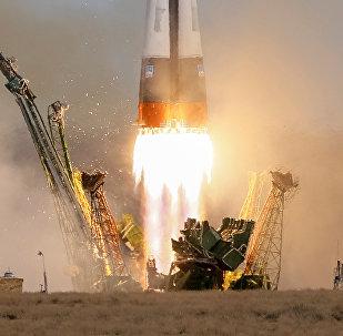 El lanzamiento de una nave rusa Soyuz (archivo)