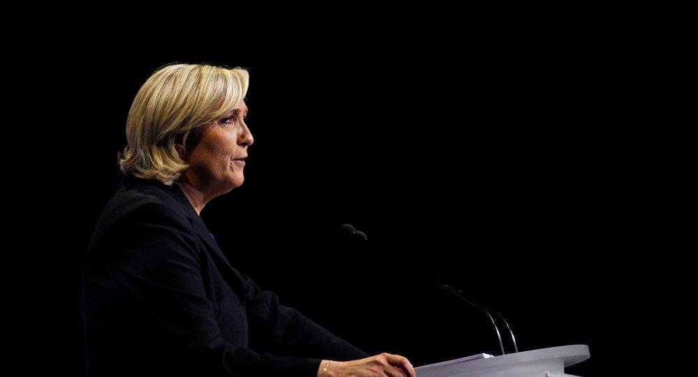 Marine Le Pen, presidenta del partido francés Unión Nacional (archivo)