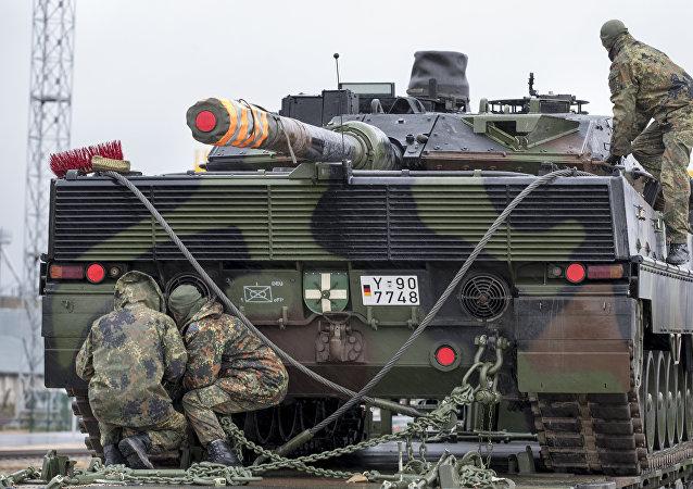 Tanque alemán en Lituania (Archivo)