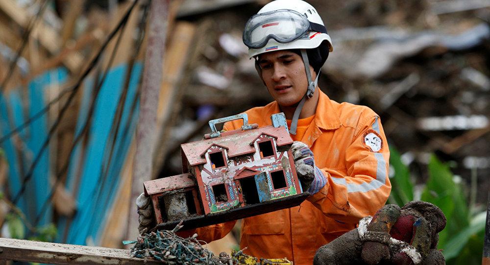 Consecuencias de derrumbe en Colombia