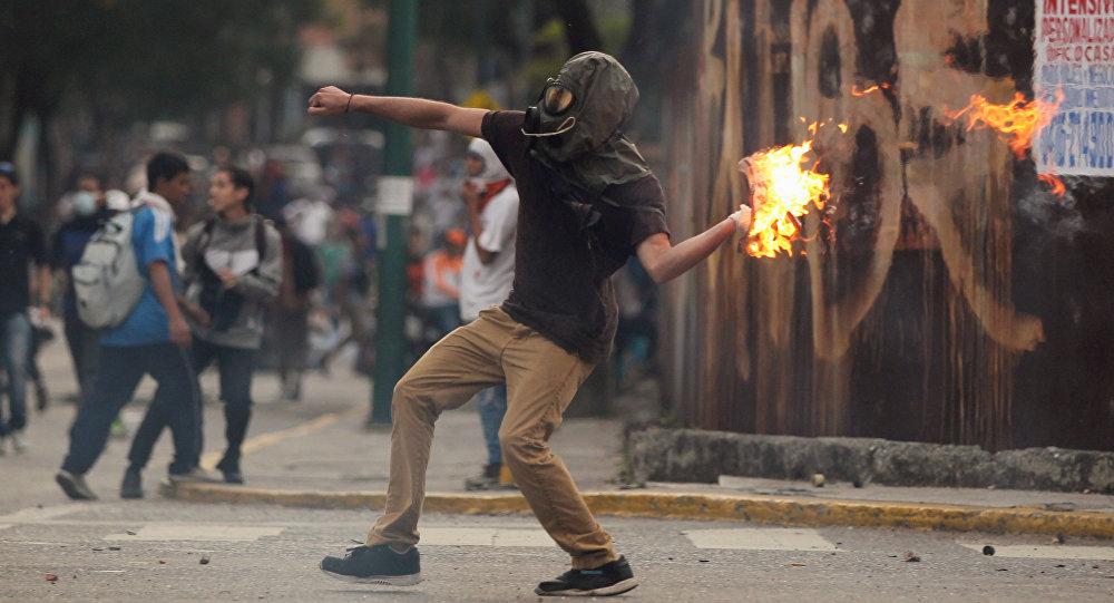 Actos de violencia en Caracas