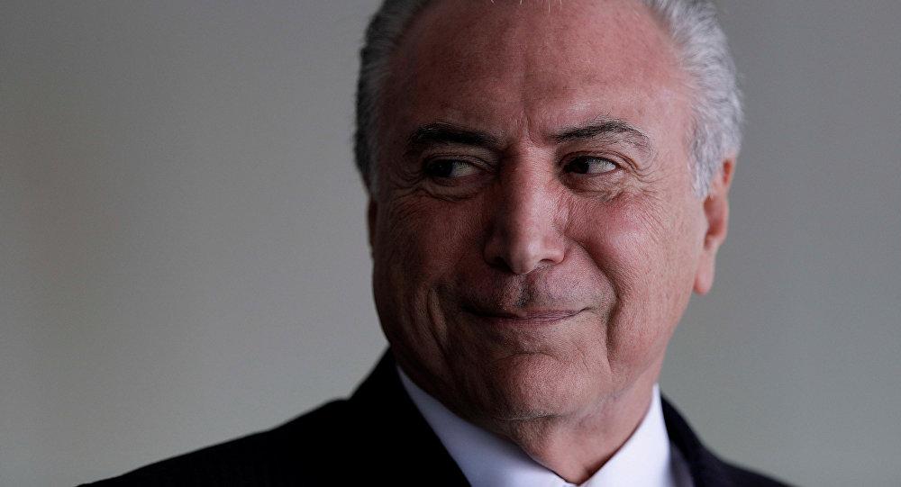 Michel Temer, presidente de Brasil (archivo)