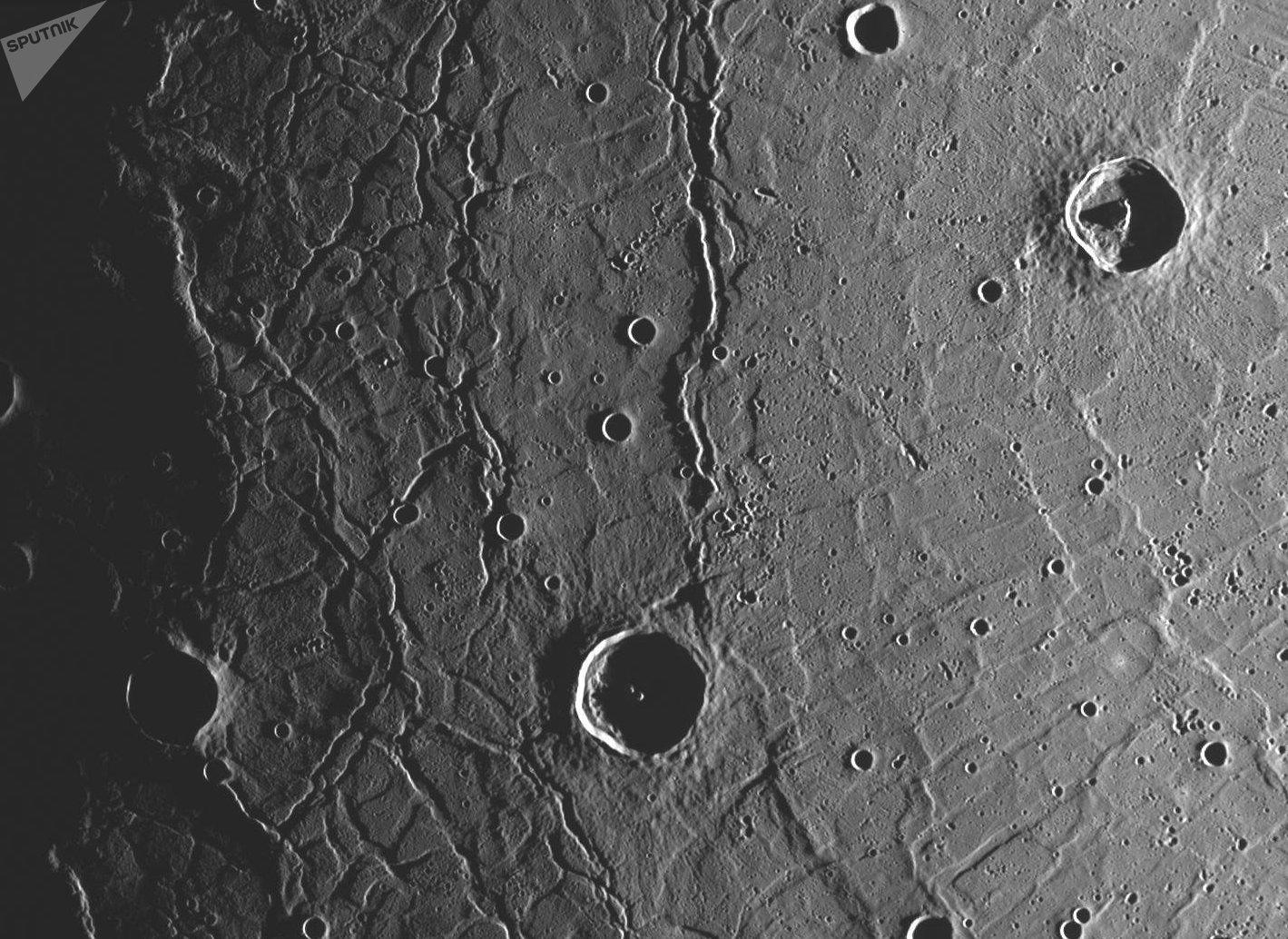 La superficie de Mercurio