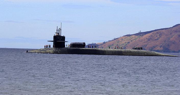 Un submarino estadounidense de la clase Ohio