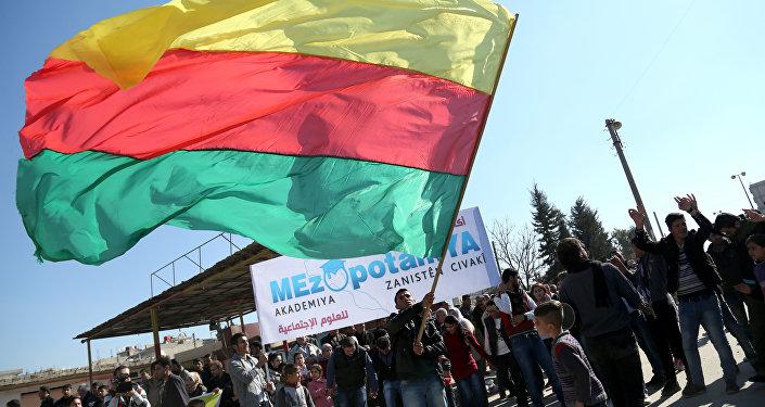 Bandera del Kurdistán sirio