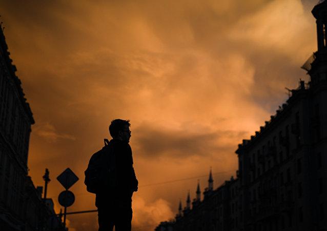 Puesta del sol en Moscú