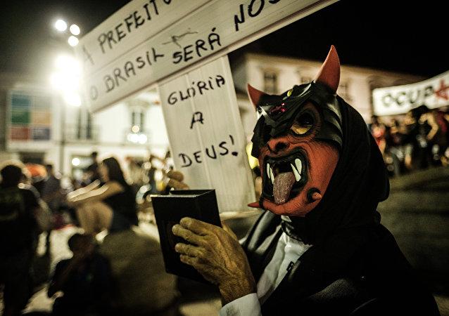 Protestas contra Michel Temer (archivo)