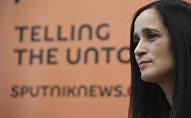 Julieta Venegas durante la entrevista con Sputnik