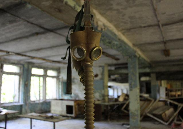 Máscara antigás en la zona de exclusión de Chernóbil