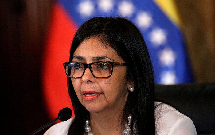 Delcy Rodríguez: Venezuela hará valer su derecho a la defensa frente a bloqueo de EEUU