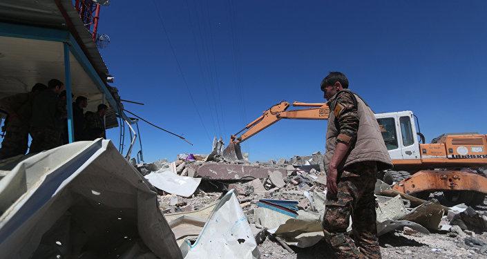 El lugar de uno de los ataques aéreos de Ankara contra las poblaciones kurdas