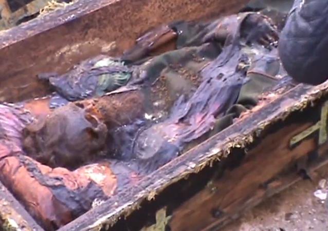 Un ataúd con los restos de un general ruso es encontrado en Turquía
