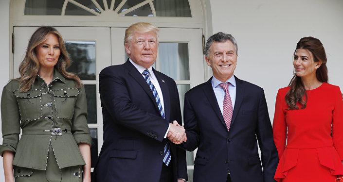 La llegada de Mauricio Macri a EEUU