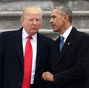 Donald Trump, actual presidente de EEUU, y el expresidente Barack Obama (archivo)