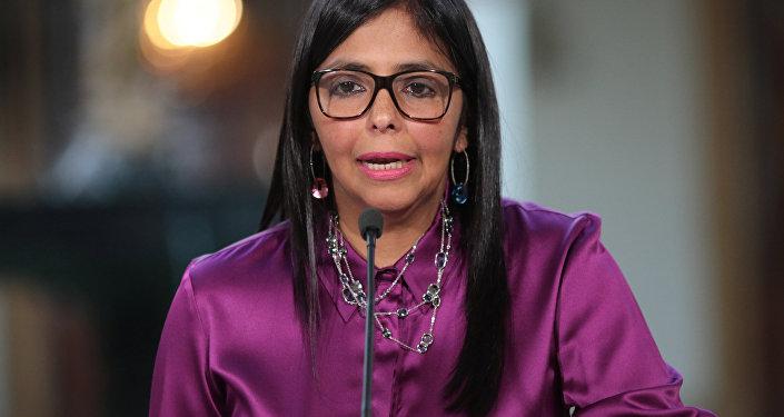 Delcy Rodríguez, exministra de Exteriores de Venezuela