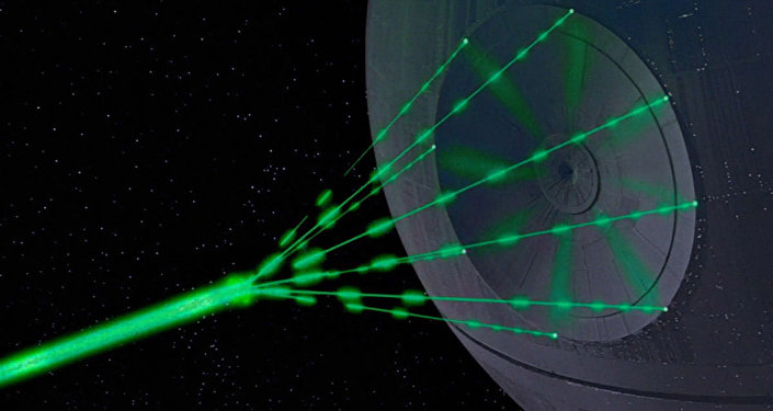 Súper láser de la Estrella de la Muerte en la película 'Star Wars: Episode IV - A New Hope'