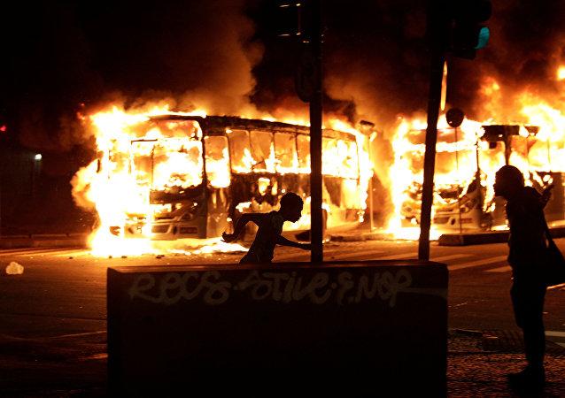 Disturbios en Río de Janeiro (archivo)