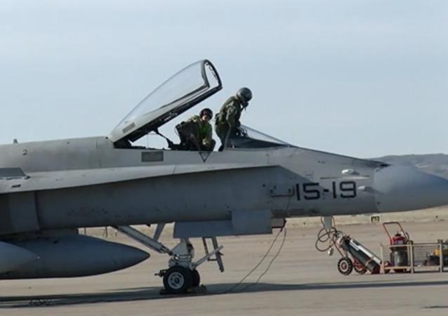 Cazas F-18 de la Fuerza Aérea española