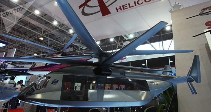 Maqueta del helicóptero Ka-92