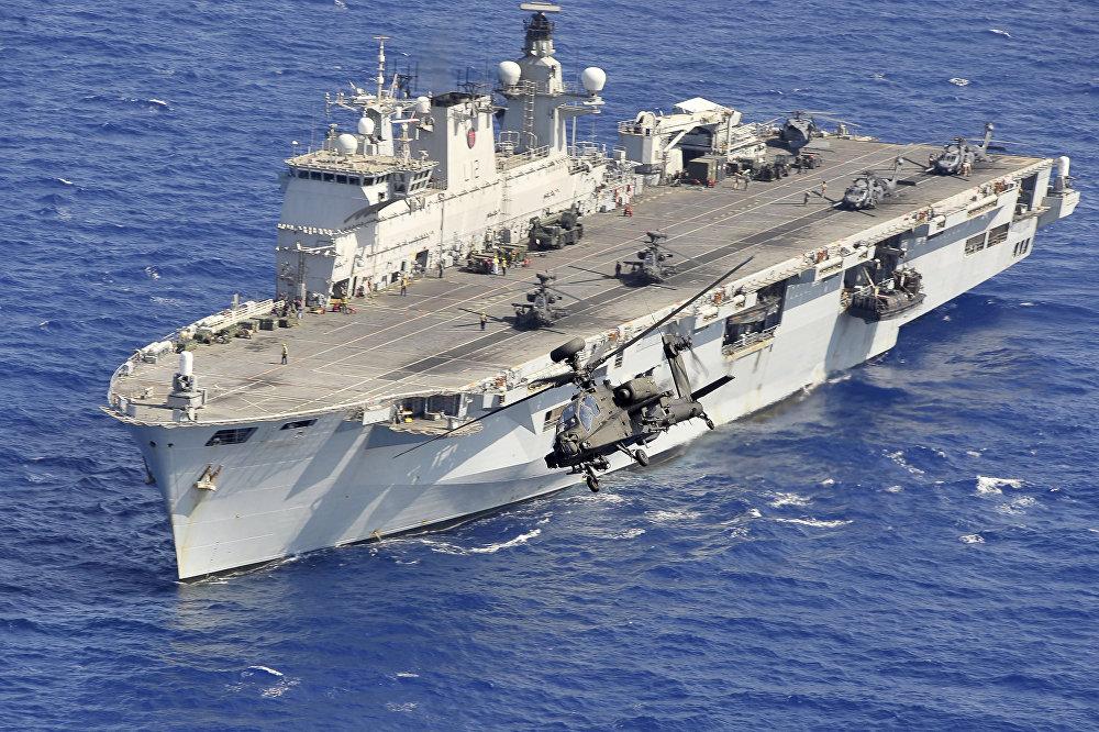 El portaviones británicos HMS Ocean