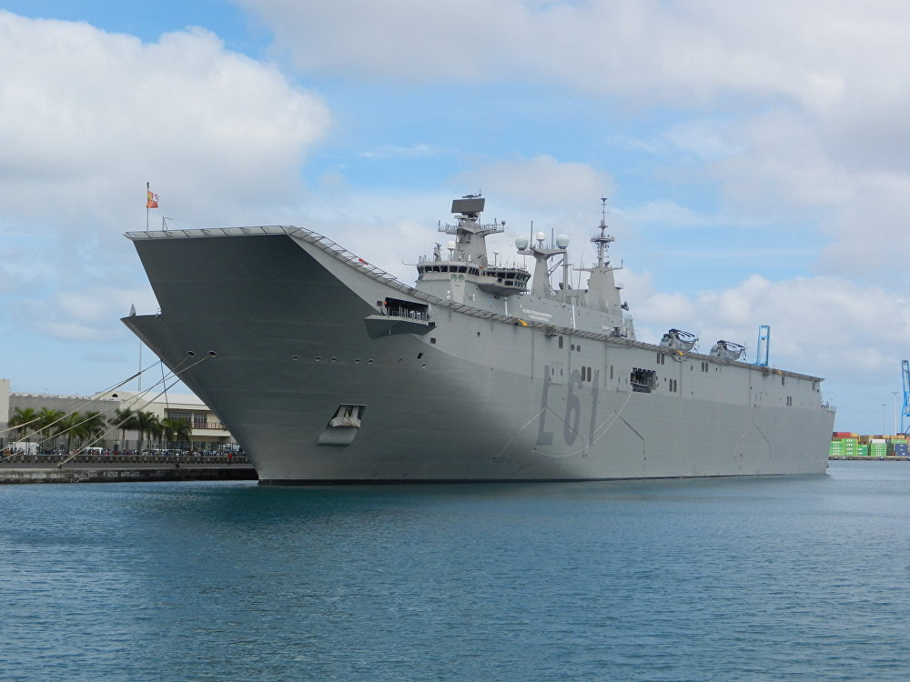 El portaviones español Juan Carlos I