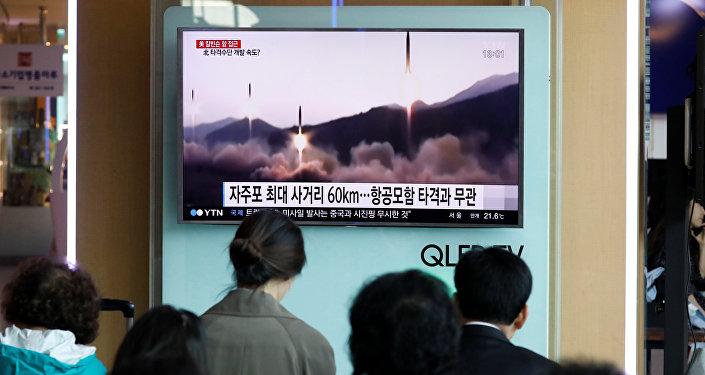 Lanzamineto de misiles por Corea del Norte