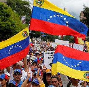 Las protestas en Caracas, Venezuela (archivo)