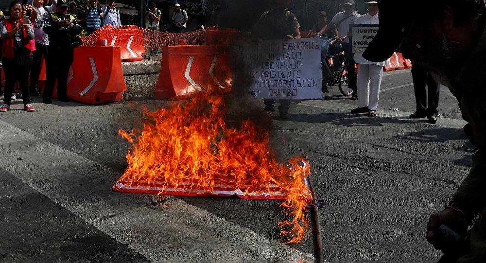 Protestas en el Día de los Trabajadores en México