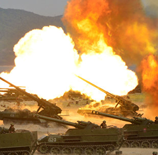 La artillería de Corea del Norte durante los ejercicios de tiro (archivo)