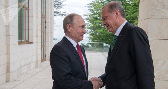 El encuetro de Vladímir Putin, presidente de Rusia, y Recep Tayyip Erdogan, presidente de Turquía
