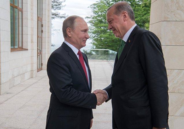 El encuentro de Putin y Erdogan (archivo)