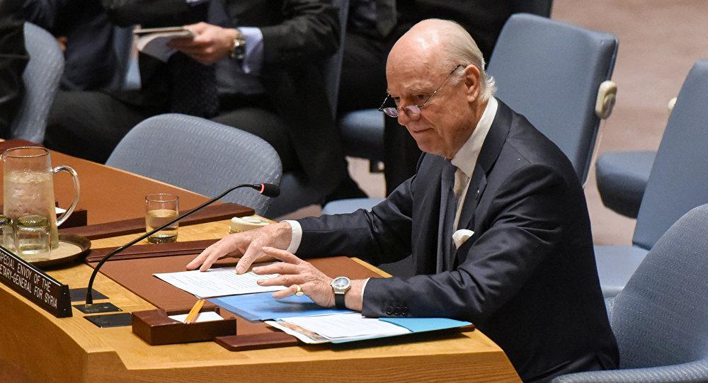 Staffan de Mistura, el enviado especial de la ONU para Siria