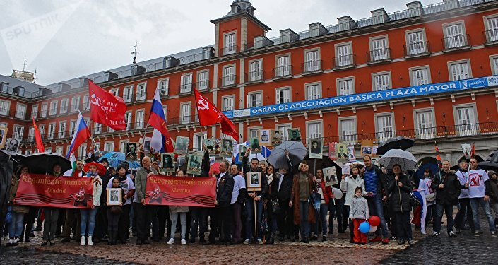 Regimiento inmortal en Madrid, 2016