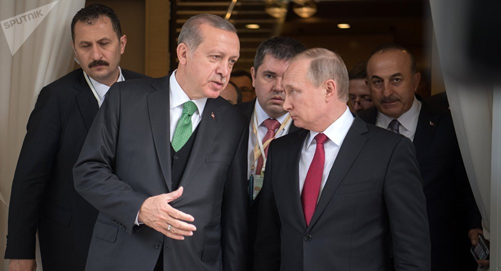 El presidente turco, Recep Tayyip Erdogan, y su homólogo ruso, Vladímir Putin (archivo)