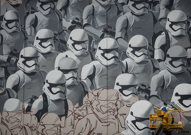 Un graffiti de Star Wars