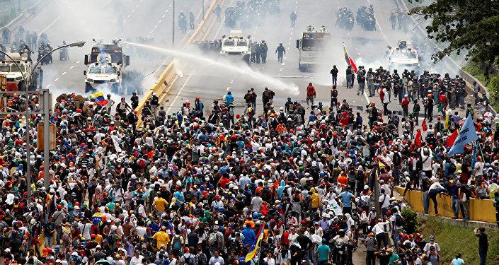 Protestas de la oposición en Caracas, Venezuela (archivo)