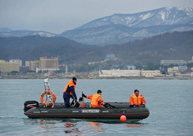 Operación de búsqueda y rescate en el lugar de la catástrofe del Tu-154 (archivo)