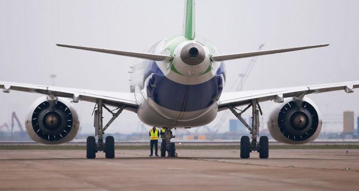 El primer avión de pasajeros de la Commercial Aircraft Corporation of China