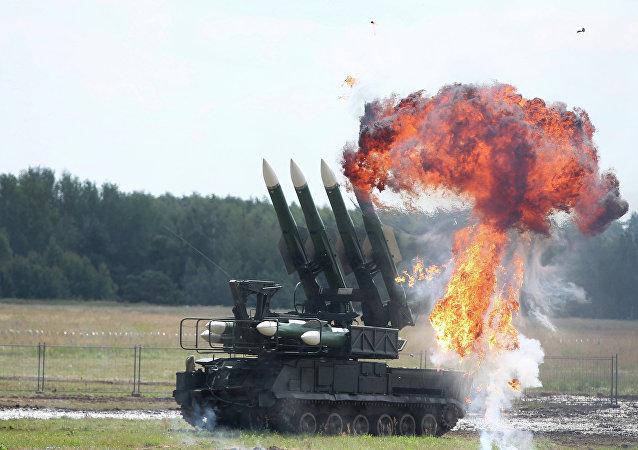 Sistemas rusos de misiles Buk (archivo)